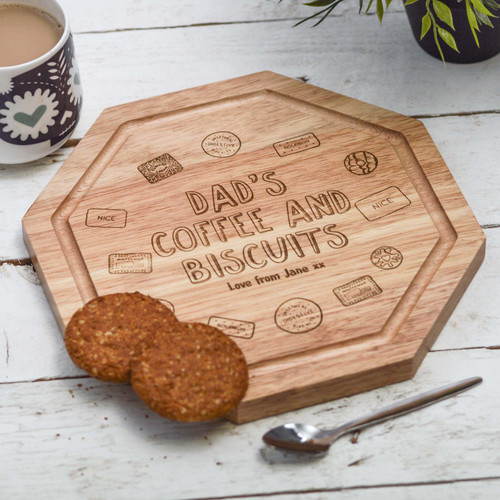 Personalised - Coffee and Biscuits Board For Him