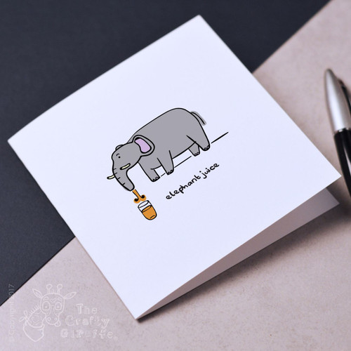 Elephant juice Mother's Day Card