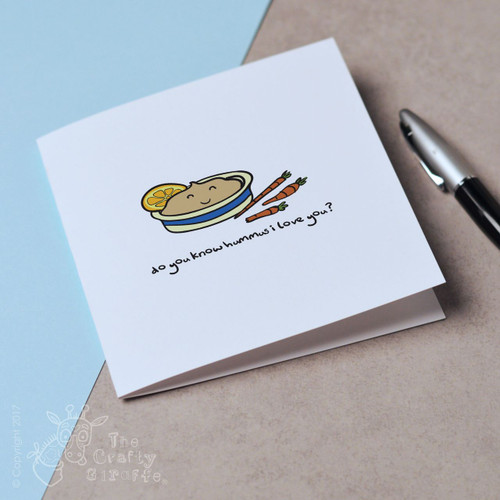 Do you know hummus I love you Mother's Day Card