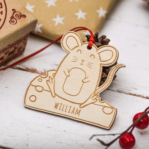 Personalised Mouse Cheese Decoration