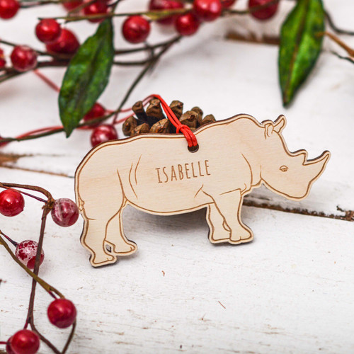 Personalised Rhino Decoration