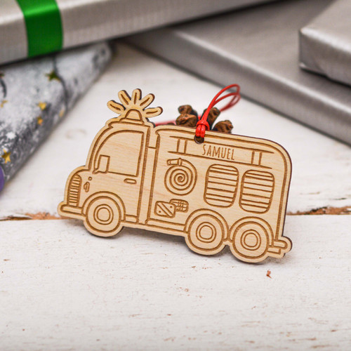 Personalised Fire Engine Decoration