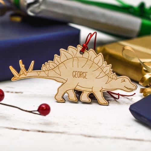 Personalised Stegosaurus Decoration