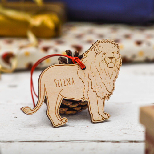 Personalised Lion Decoration