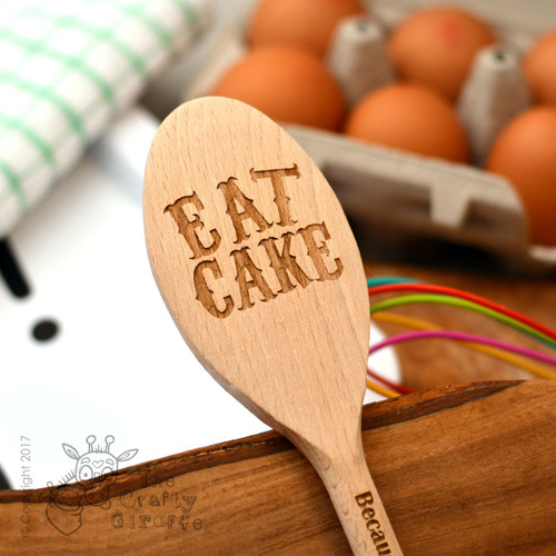 Personalised Eat Cake Spoon