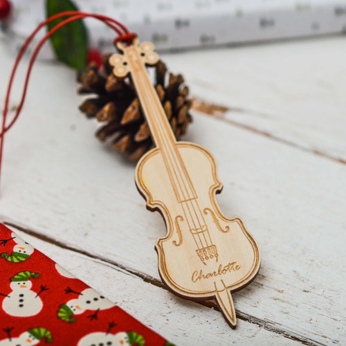 Personalised Cello Decoration