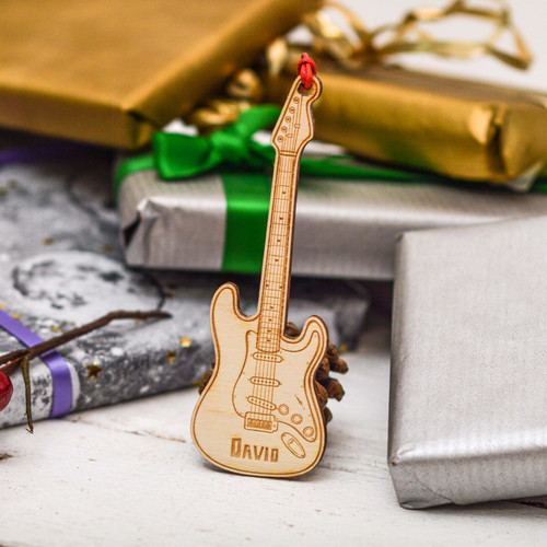 Personalised Electric Guitar Decoration