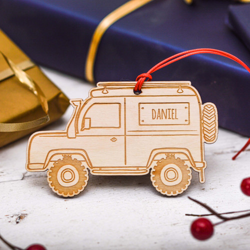 Personalised Landrover Decoration