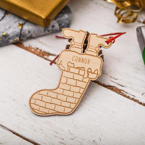 Personalised Santa boot stocking Decoration