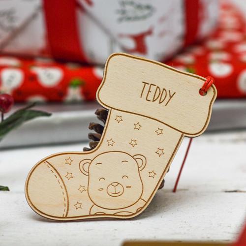 Personalised Polar bear stocking Decoration