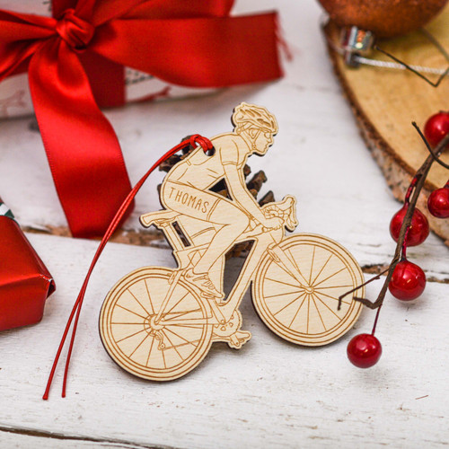 Personalised Cyclist Decoration