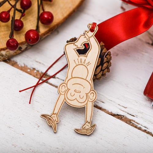 Personalised Monkey Decoration