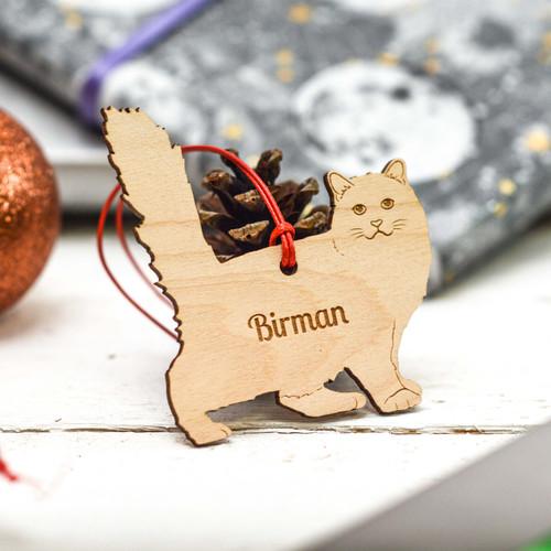 Personalised Birman Cat Decoration