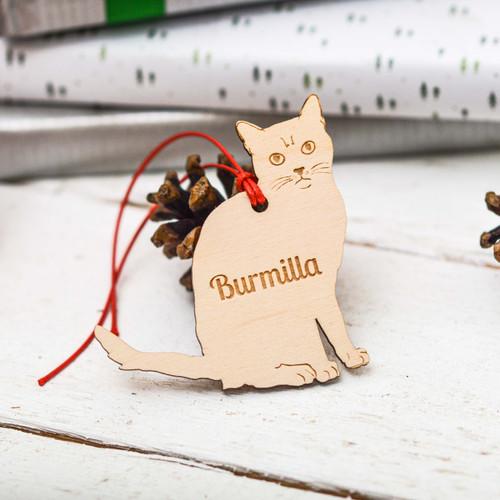 Personalised Burmilla Cat Decoration
