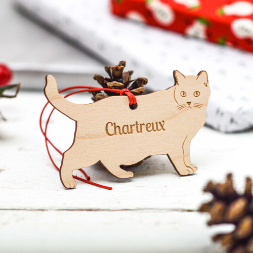 Personalised Chartreux Cat Decoration
