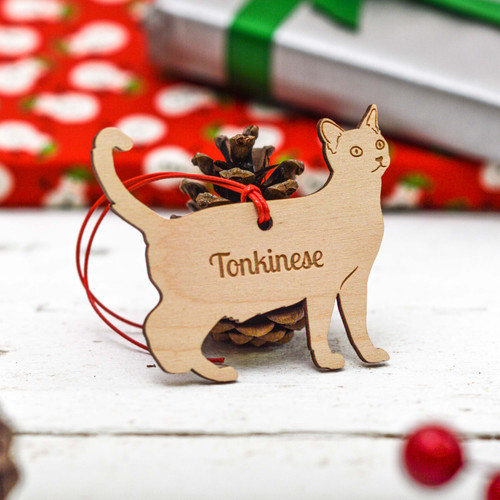 Personalised Tonkinese Cat Decoration
