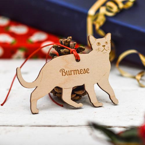 Personalised Burmese Cat Decoration