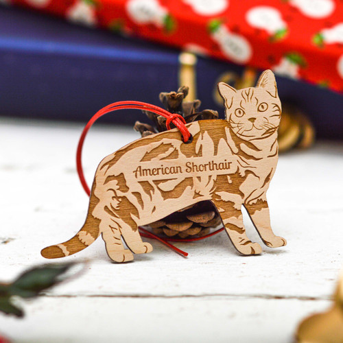 Personalised American Shorthair Cat Decoration