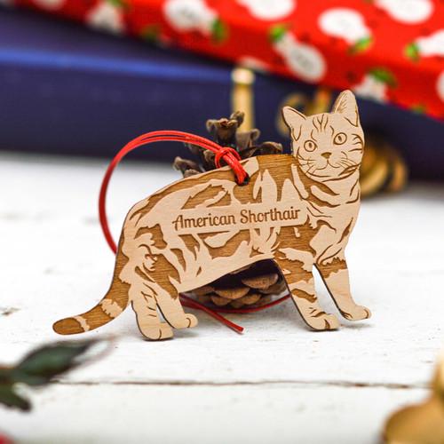 Personalised American Shorthair Cat Decoration