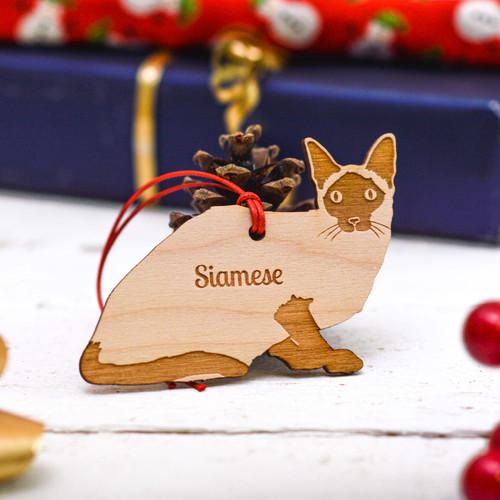 Personalised Siamese Cat Decoration