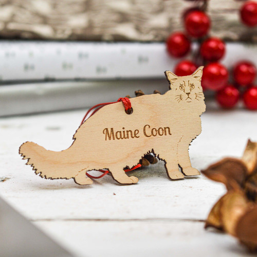 Personalised Maine Coon Cat Decoration