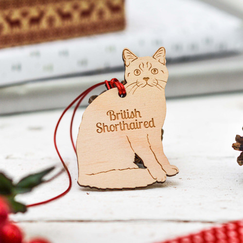 Personalised British Shorthaired Cat Decoration