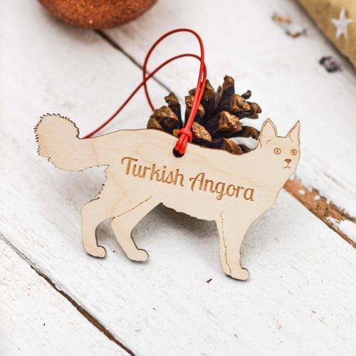 Personalised Turkish Angora Cat Decoration