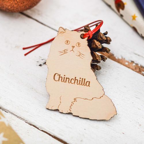 Personalised Chinchilla Cat Decoration