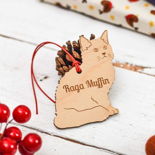 Personalised Raga Muffin Cat Decoration
