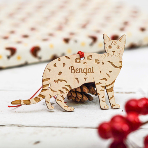 Personalised Bengal Cat Decoration