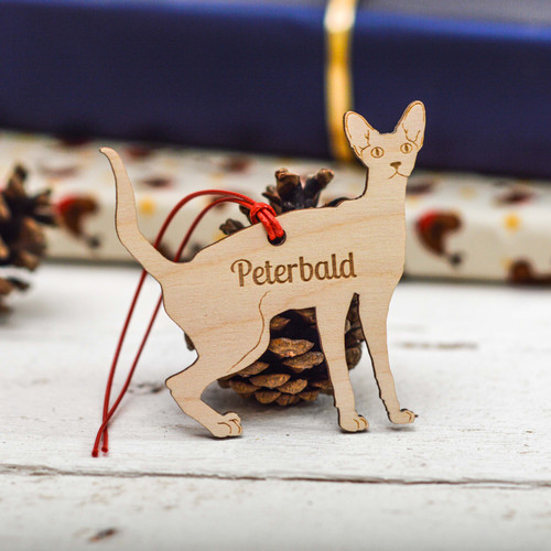 Personalised Peterbald Cat Decoration