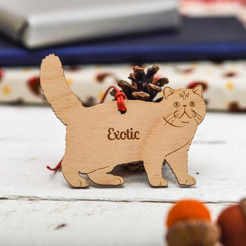 Personalised Exotic Cat Decoration