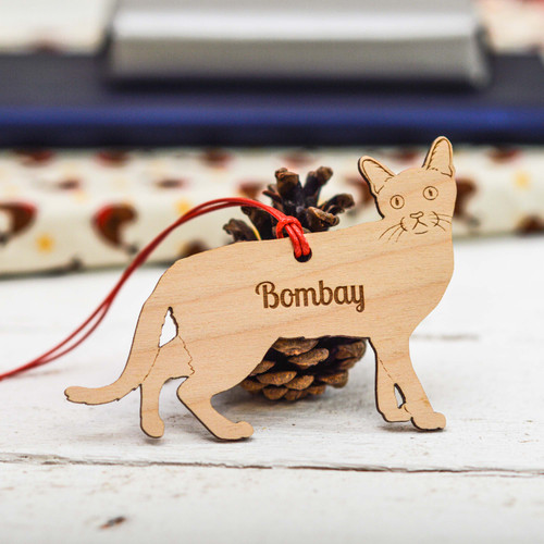 Personalised Bombay Cat Decoration