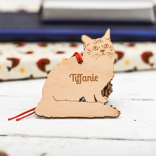 Personalised Tiffanie Cat Decoration