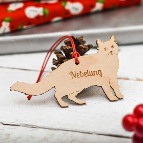 Personalised Nebelung Cat Decoration