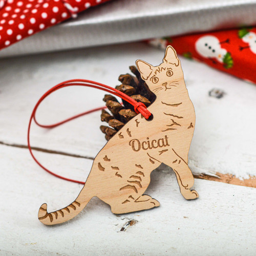 Personalised Ocicat Cat Decoration