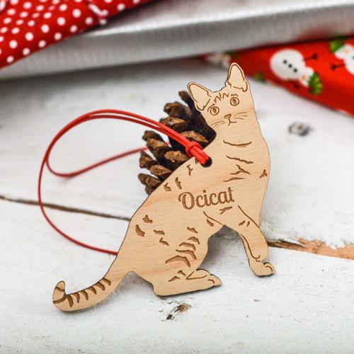 Personalised Ocicat Cat Decoration