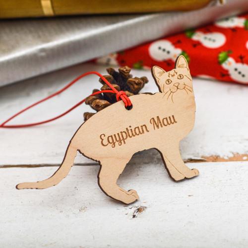 Personalised Egyptian Mau Cat Decoration