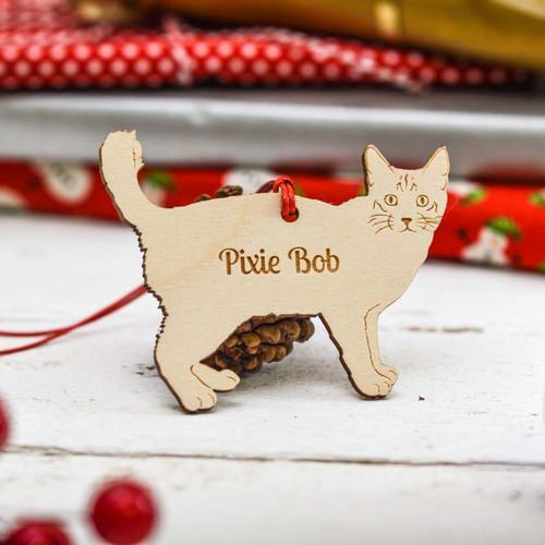 Personalised Pixie Bob Cat Decoration