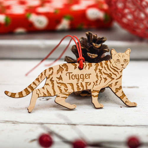 Personalised Toyger Cat Decoration