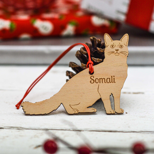 Personalised Somali Cat Decoration