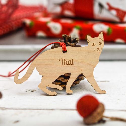 Personalised Thai Cat Decoration