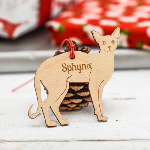 Personalised Sphynx Cat Decoration