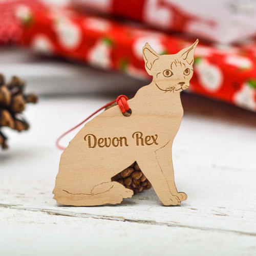 Personalised Devon Rex Cat Decoration