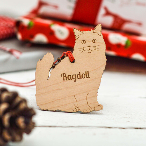 Personalised Ragdoll Cat Decoration