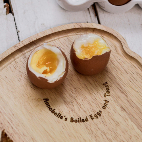 Personalised Breakfast Egg Board - Smiley Text