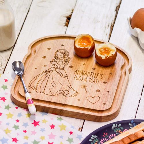 Personalised Breakfast Egg Board - Princess