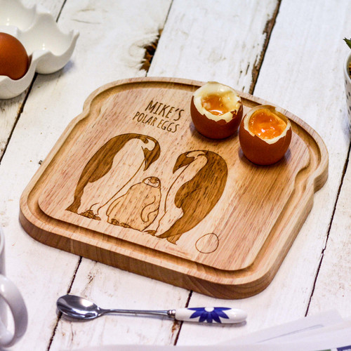 Personalised Breakfast Egg Board - Penguin