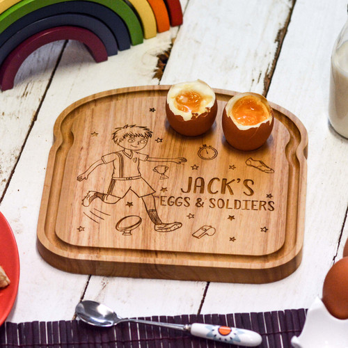 Personalised Breakfast Egg Board - Rugby