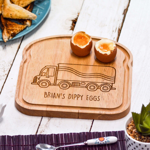 Personalised Breakfast Egg Board - Lorry
